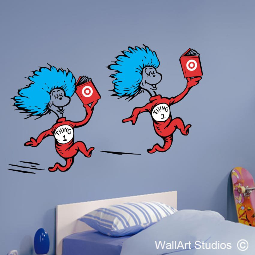 Thing 1 thing 2 wall art vinyls