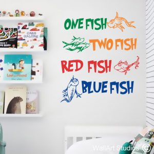 Dr Seuss One Fish Wall Stickers