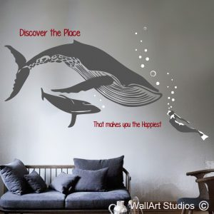 Southern Right Whale Wall Art Vinyls