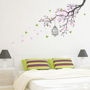 Freedom Branch with Blossoms Wall Art Stickers