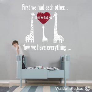 Now We Have Everything Wall Art Stickers, Quotes