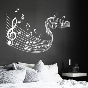 Music Notes Swirl Wall Art Stickers