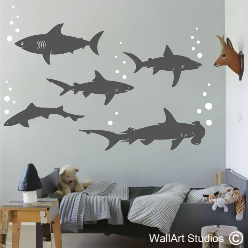 Sharks Wall Art Decals Wall Art Studios Uk