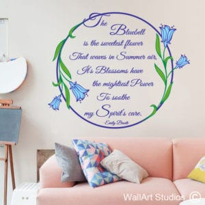 Bluebells Emily Bronte Wall Art Stickers