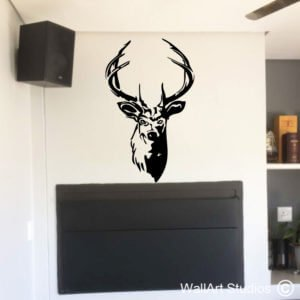 Stag's Head Wall Art Decals