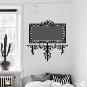 Decorative Filigree Frame Chalkboard Wall Art Decal