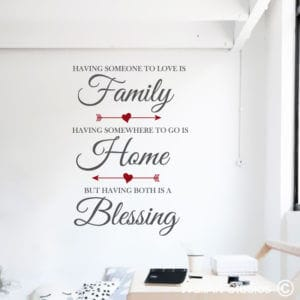 Family, Home, Blessing Wall Art Sticker