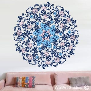 Rose Flower Mandala Wall Art Sticker