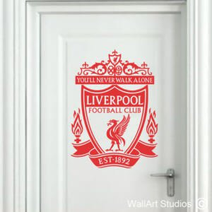 Liverpool Colour Logo Wall Art Sticker, Custom