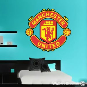 Manchester United Colour Logo Wall Art Decal