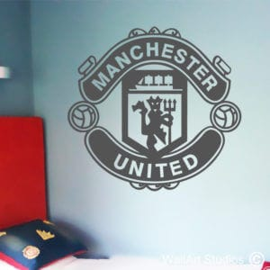 Manchester United Wall Art Sticker, Custom