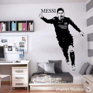 Lionel Messi Football Wall Art Decal