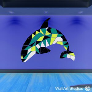 Orca Whale Geometric Wall Sticker