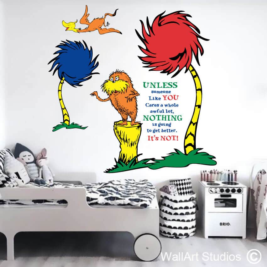 Dr Seuss The Lorax Wall Sticker