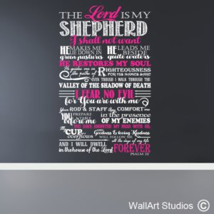 Psalm 23 The Lord is my Shepard Wall Sticker