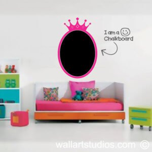 Chalkboard Princess Wall Sticker