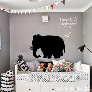 Chalkboard Elephant Wall Sticker