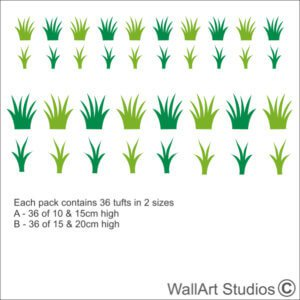 Grass Tufts Wall Stickers