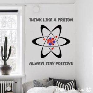 Proton Quote Wall Sticker, school, education, science, maths, school, custom
