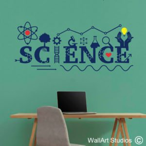 Science Lab Wall Decal, school, science, education, maths, custom, learning