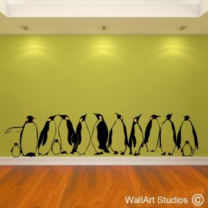 penguins wall art stickers, penguin, wall decals, vinyl wall stickers, custom wall art, wall art studios