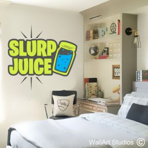 Fortnite Slurp Juice Wall Stickers, gamer wall stickers, fortnite, slurp juice