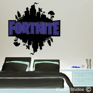 Fortnite Wall Decal, playstation games, xbox games, gamer wall decals, wall art stickers